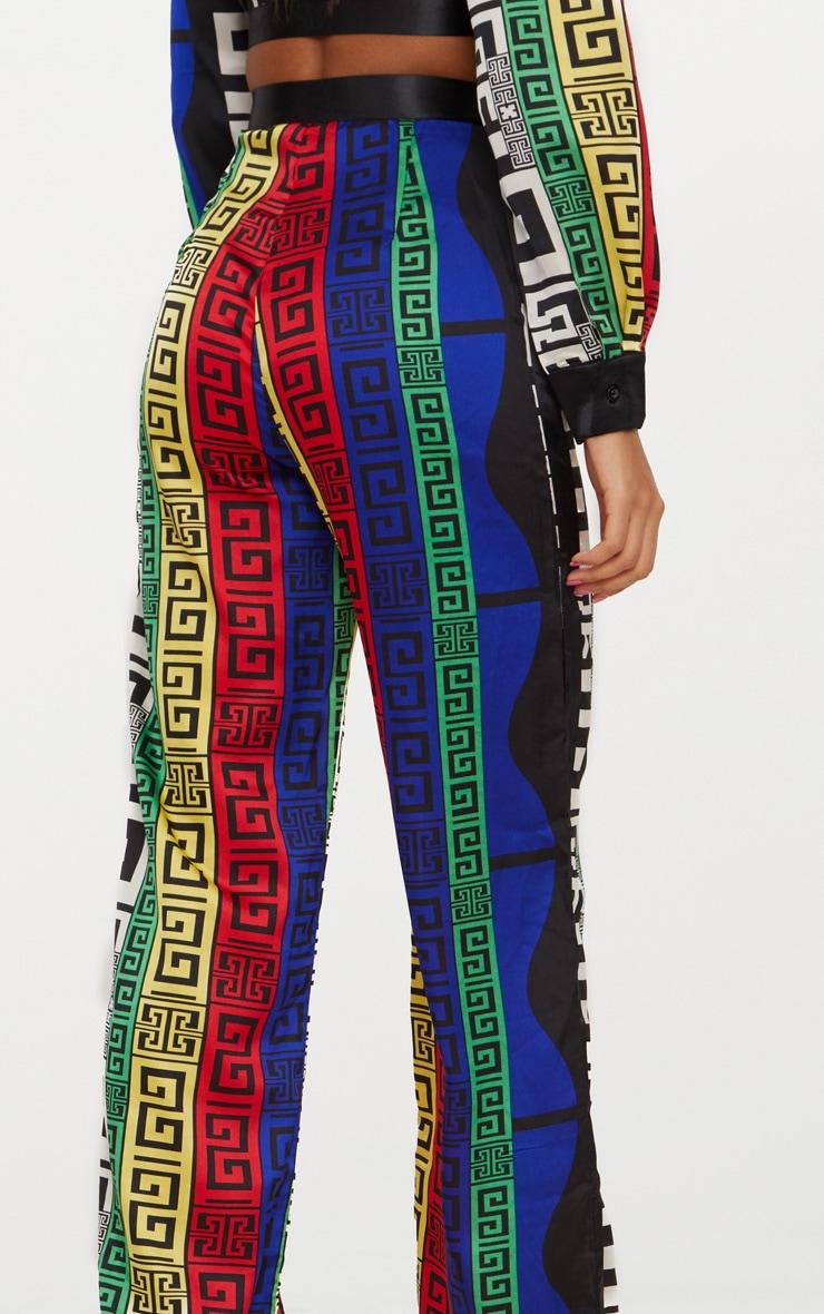 Multi Satin Printed Wide Leg Pants 5
