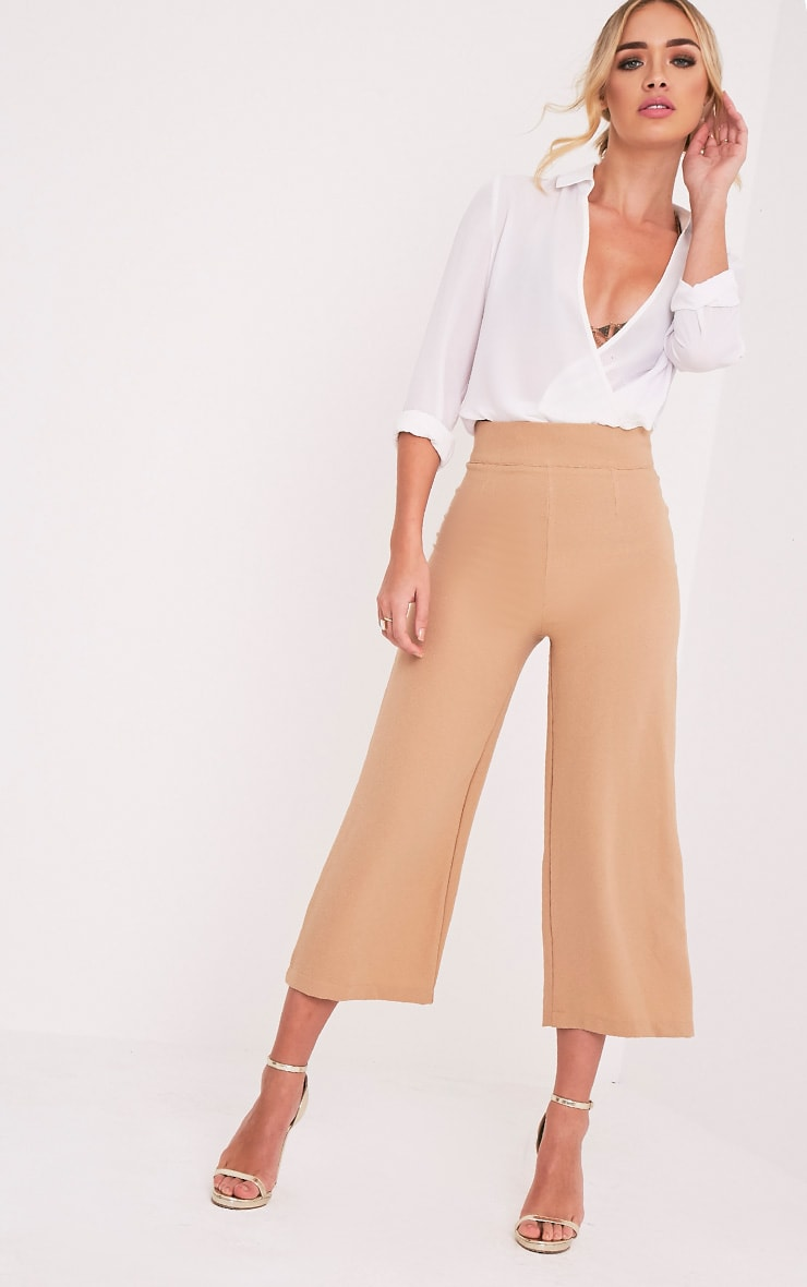 Tazmin Camel High Waisted Culottes 1