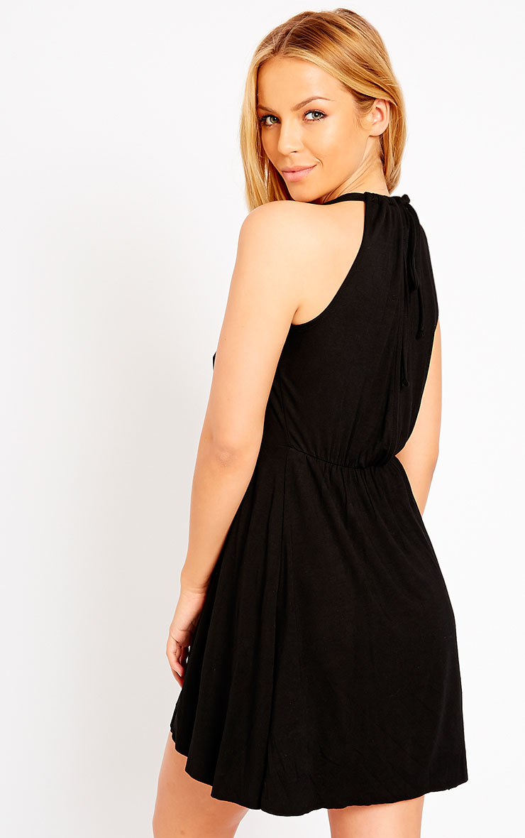 Aria Black Plunge Jersey Dress 5