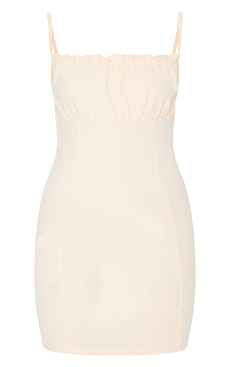 Nude Ruched Bust Strappy Bodycon Dress 5