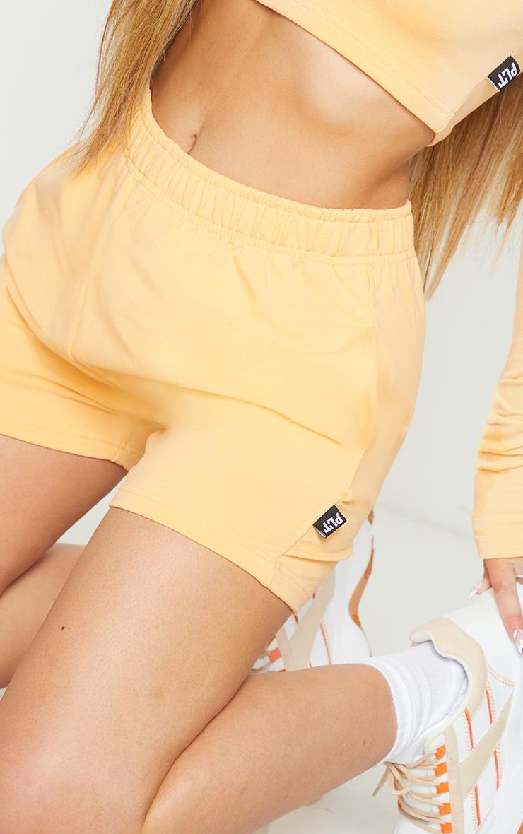 PRETTYLITTLETHING Peach Badge Cotton Shorts 5