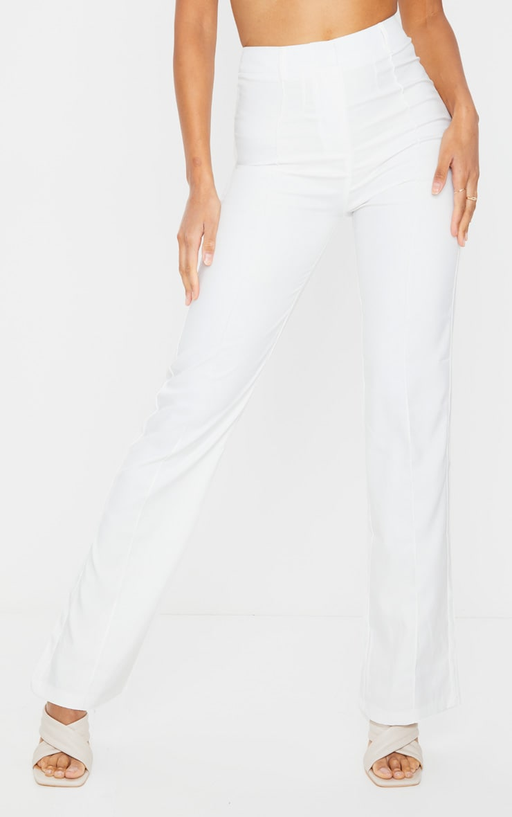Anala Cream High Waisted Straight Leg Pants 2