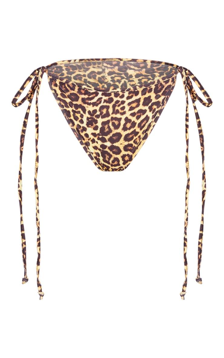Leopard Mix & Match Tie Side Bikini Bottom 3
