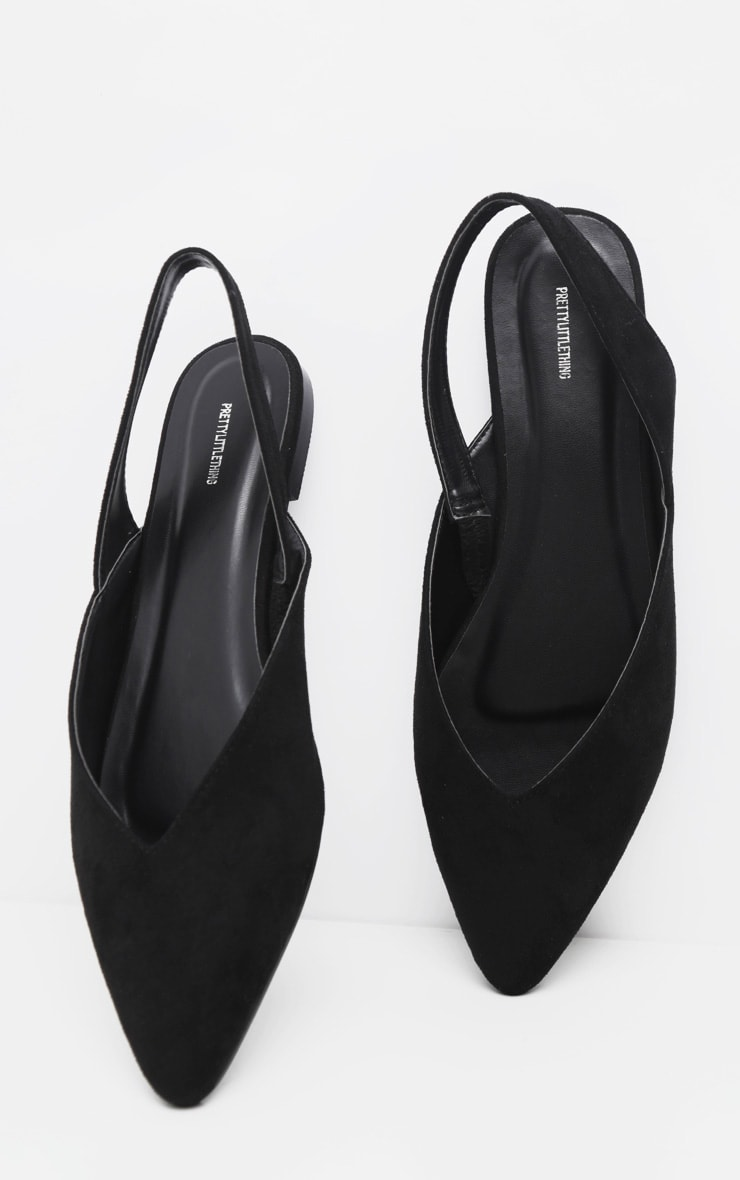 Black Point Toe Slingback Flat  3
