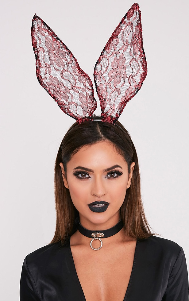 Red Lace Bunny Ears 1