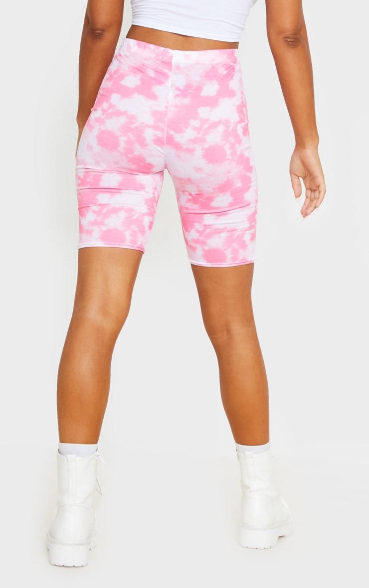 Basic Pink Tie Dye Bike Shorts 3