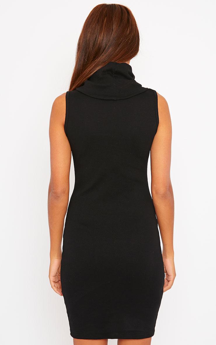 Faybhian Black Turtle Neck Dress 2