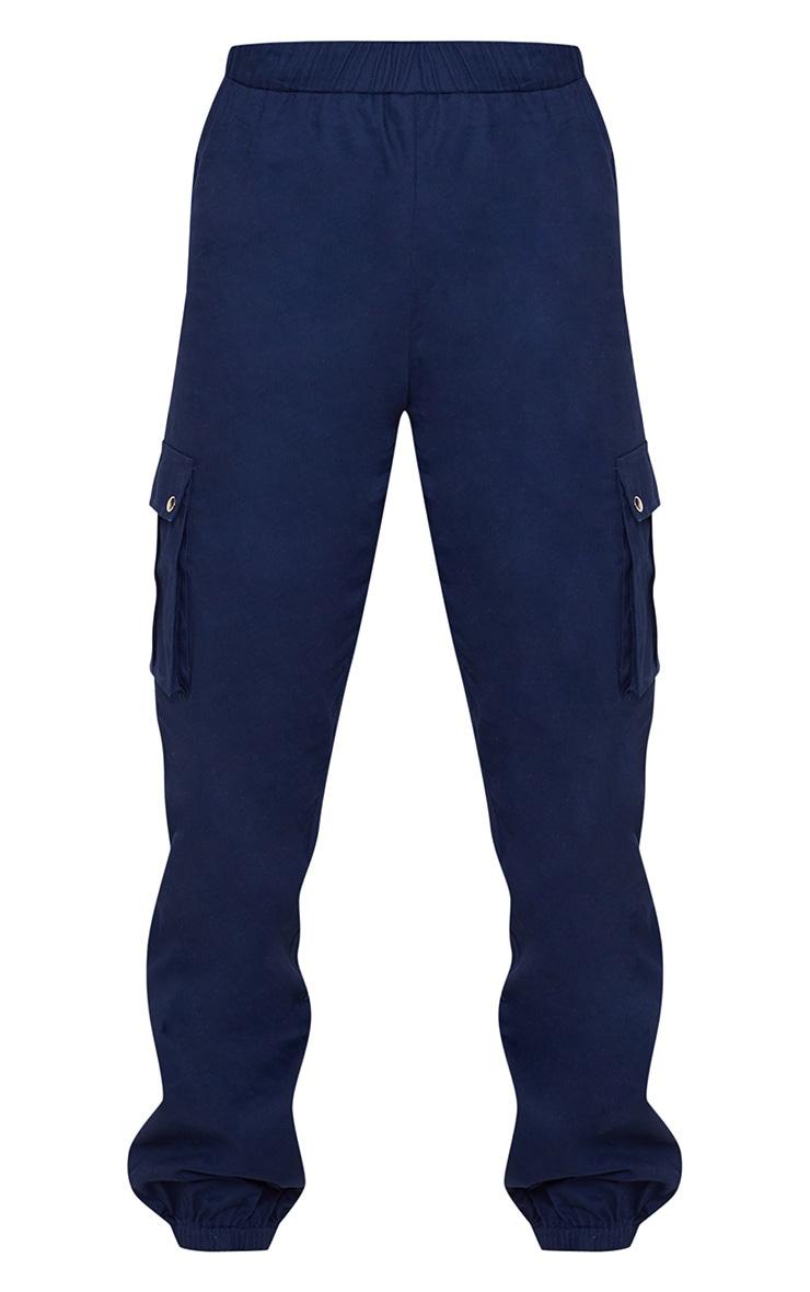 Navy Pocket Detail Cargo Trouser 3