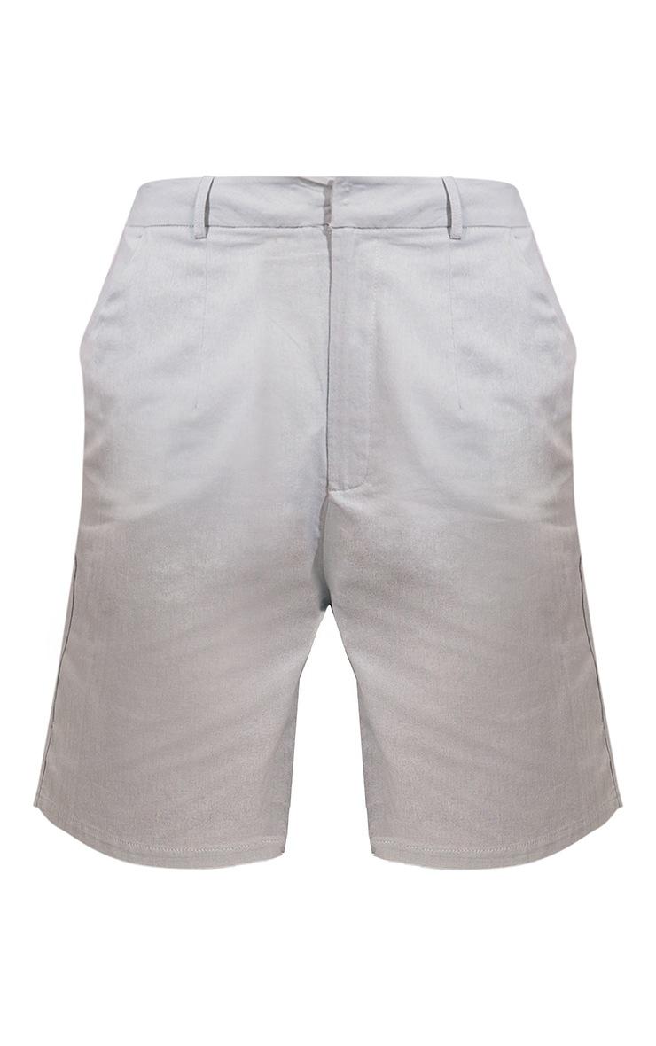 Sage Green Linen Look Tailored Bermuda Shorts 6