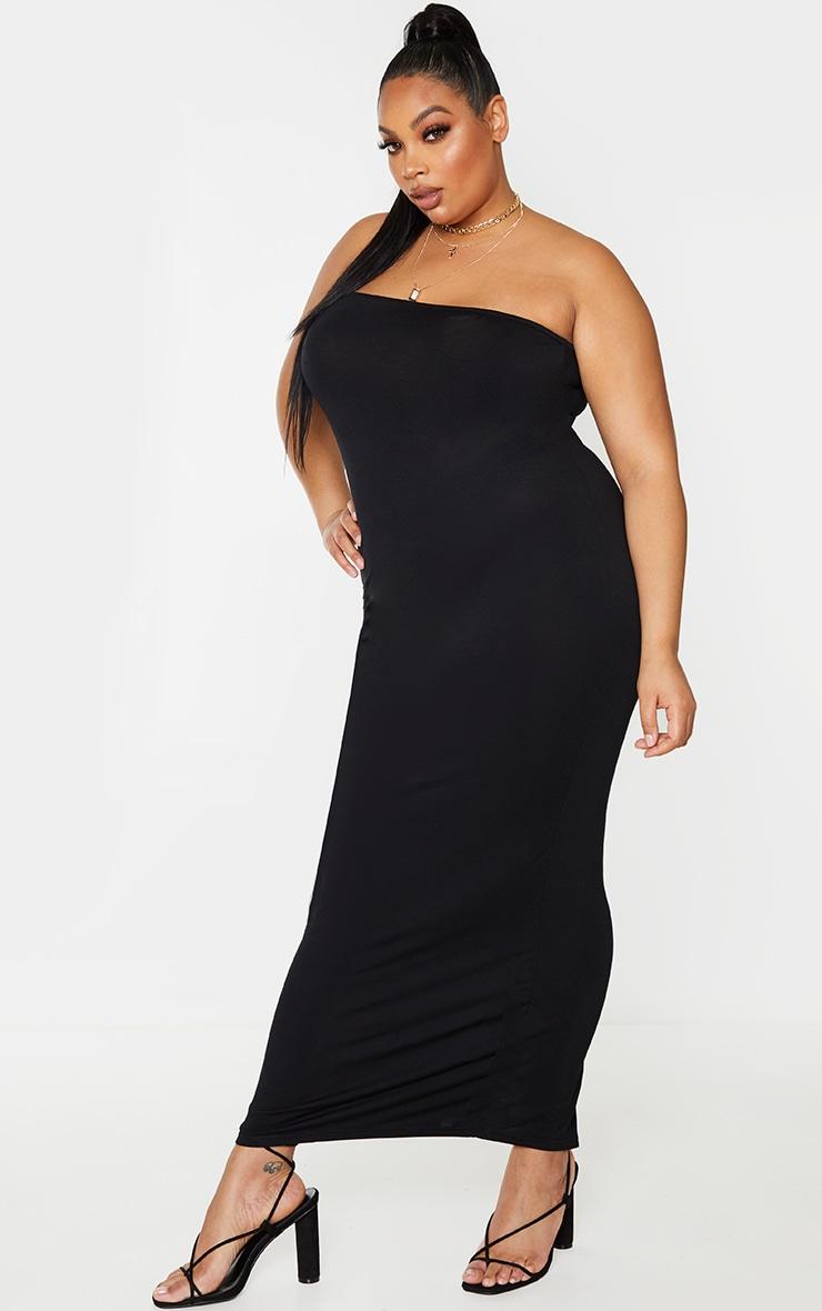 Plus Black Bandeau Maxi Dress 3