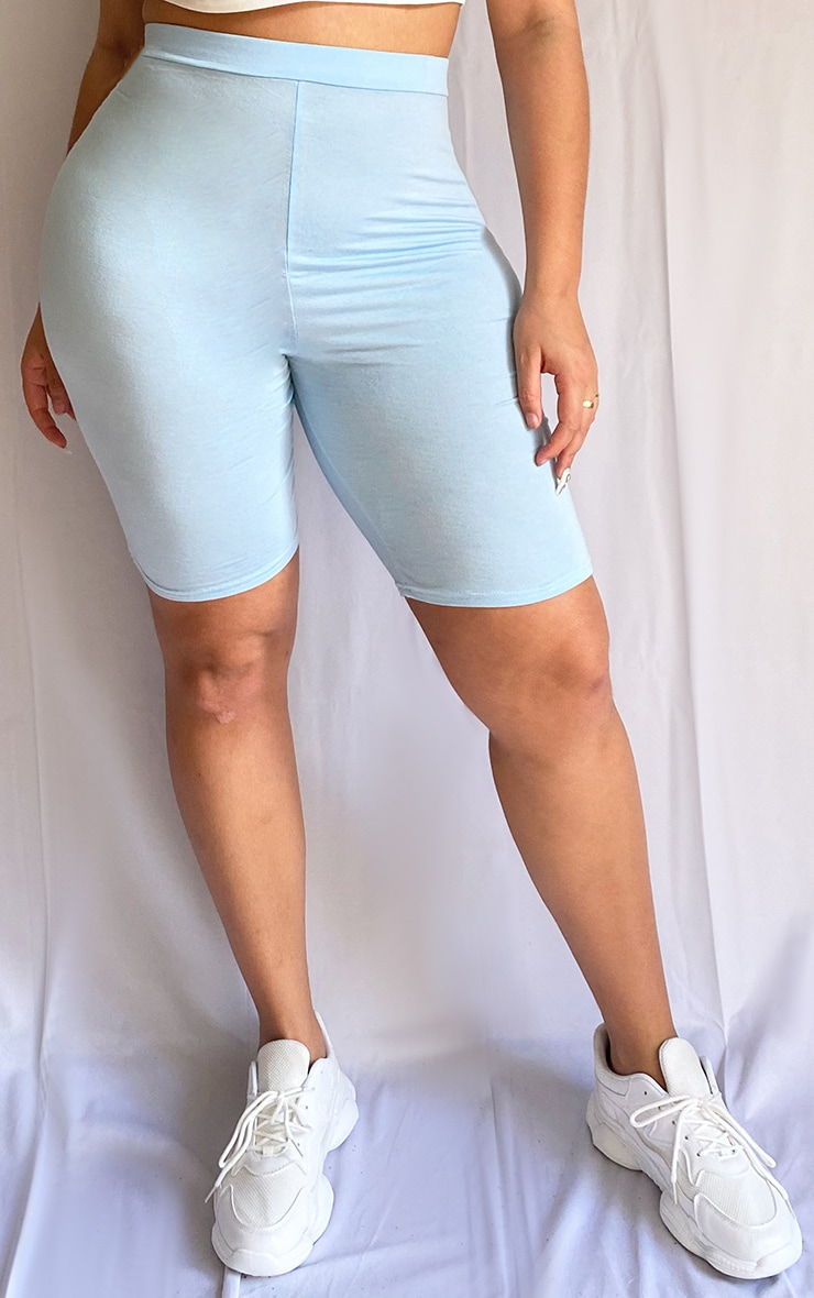 Plus Dusty Blue Basic Bike Shorts 2
