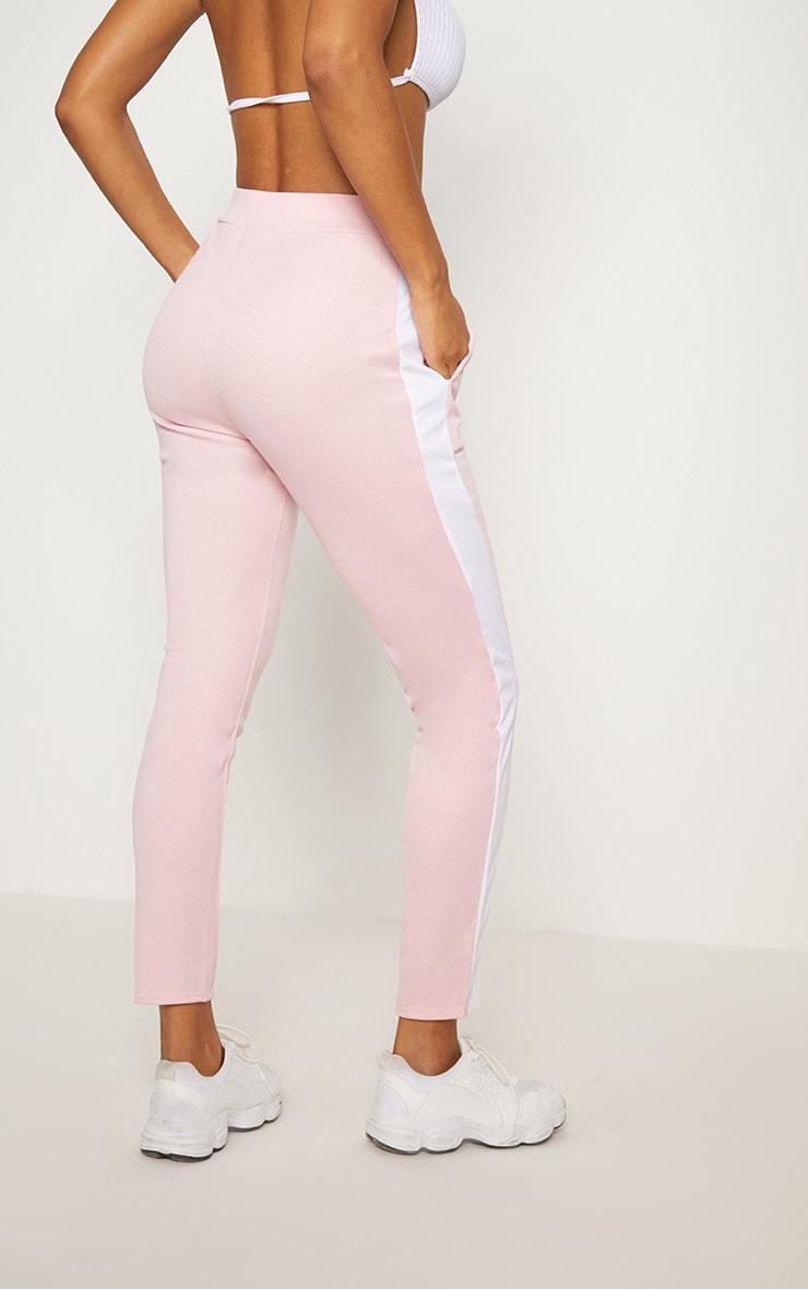 Pink Ponte Contrast Side Stripe Trouser   4