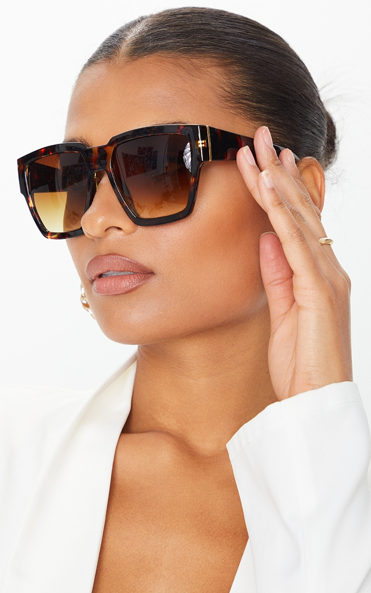 Tortoiseshell Oversized Square Sunglasses 1
