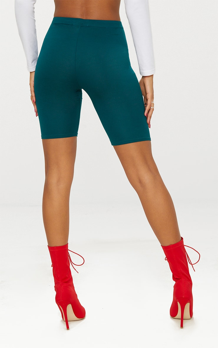 Emerald Green Basic Cycle Shorts 4