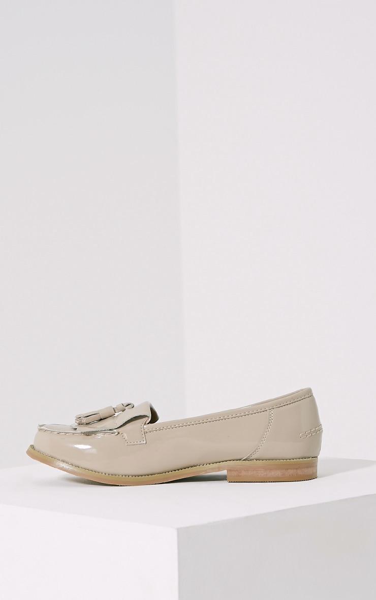 Trella Nude Patent Loafers 4