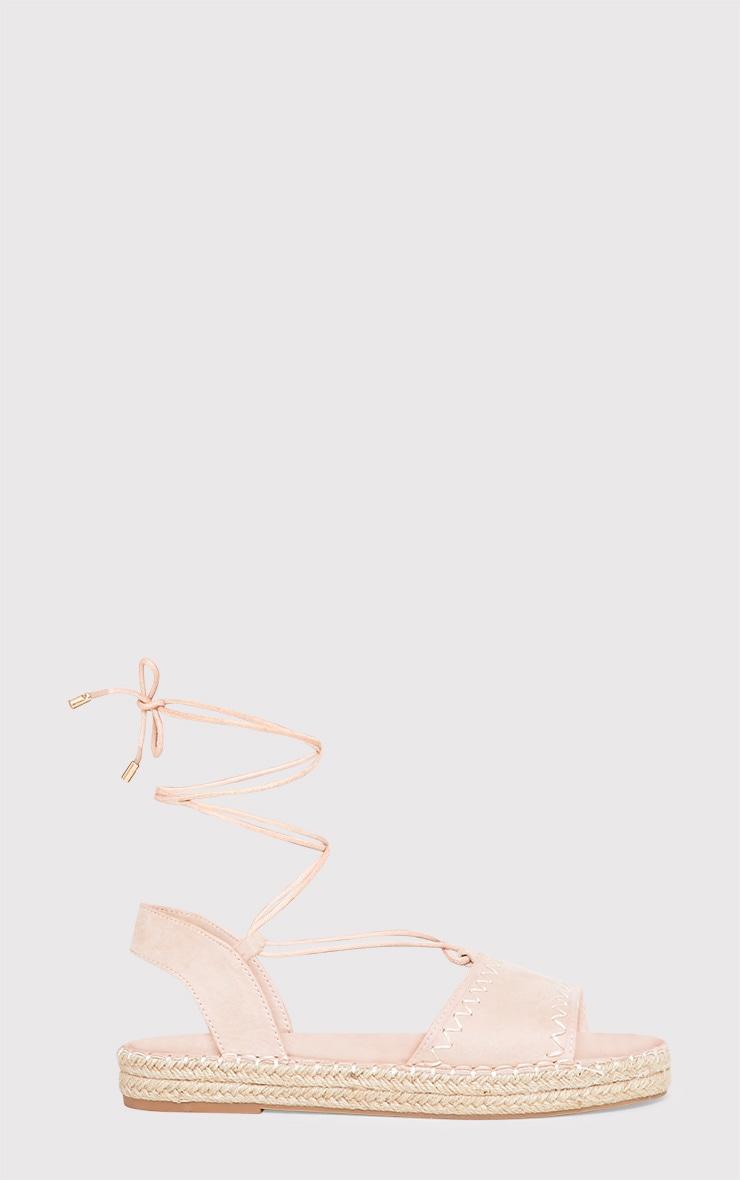 Rosina Blush Lace Up Espadrille Sandals 2