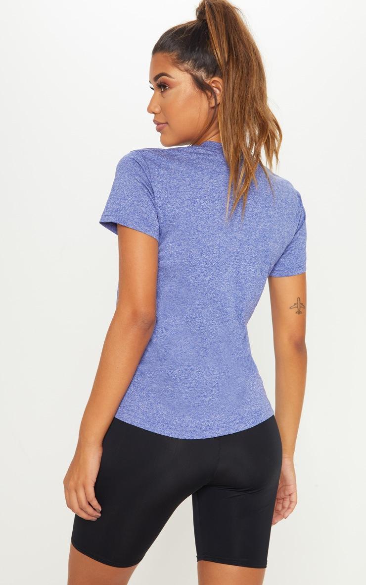 Blue Basic Sports T Shirt 2