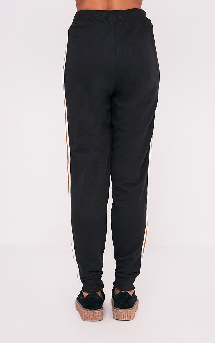 Black Side Stripe Track Pants 5