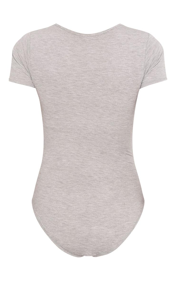 Body basique gris à manches courtes 4