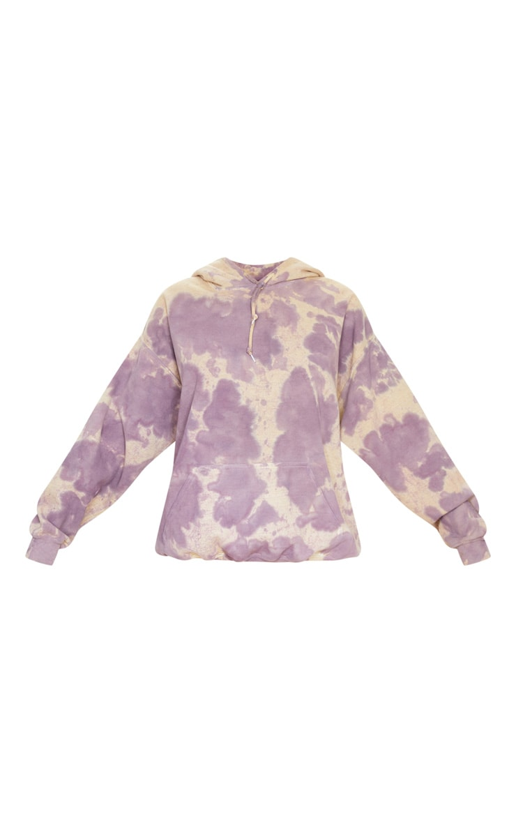 Washed Violet Acid Wash Oversized Hoodie 3