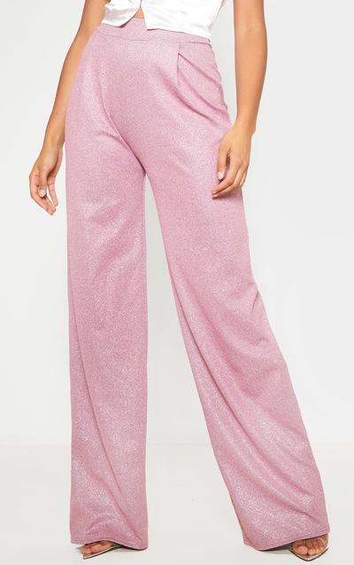 Pink Glitter Wide Leg Trousers
