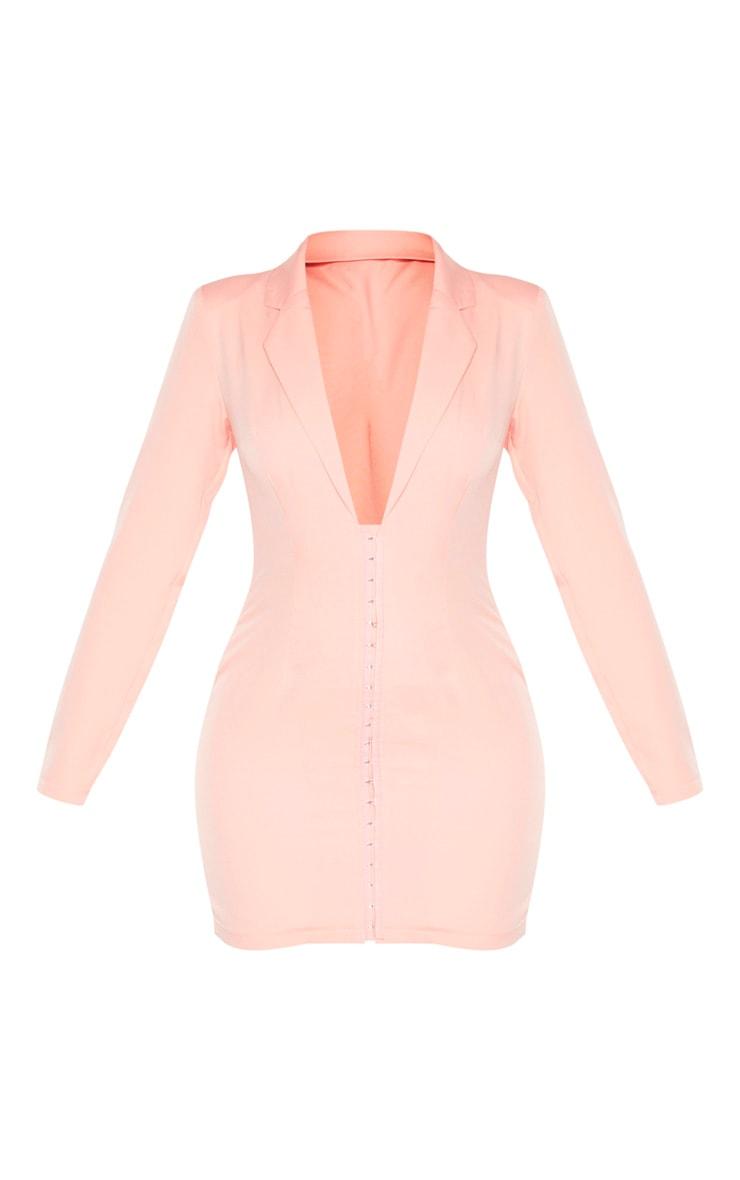 Blush Hook & Eye Blazer Dress 3
