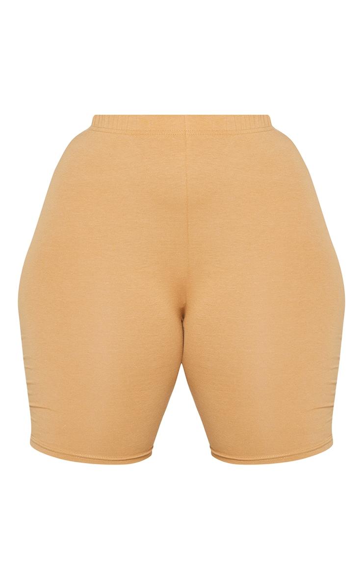 Essential Plus Camel Cotton Blend Cycle Short 6