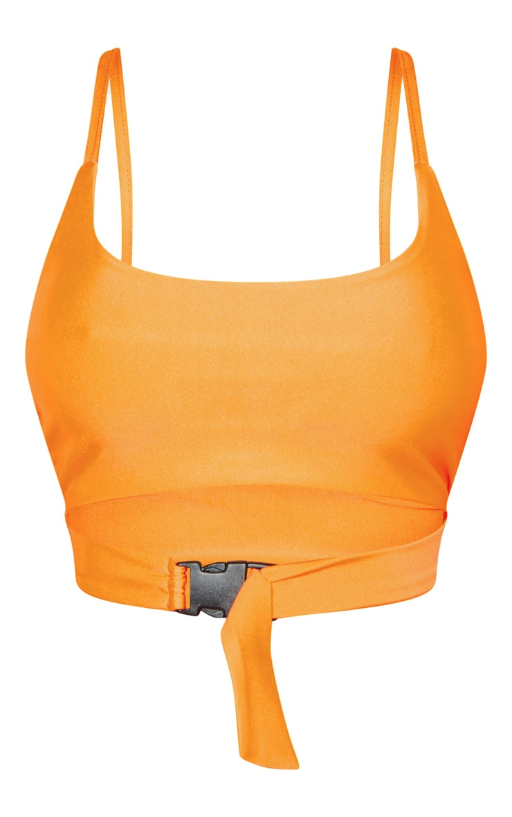 Shape Orange Buckle Front Bikini Top  3