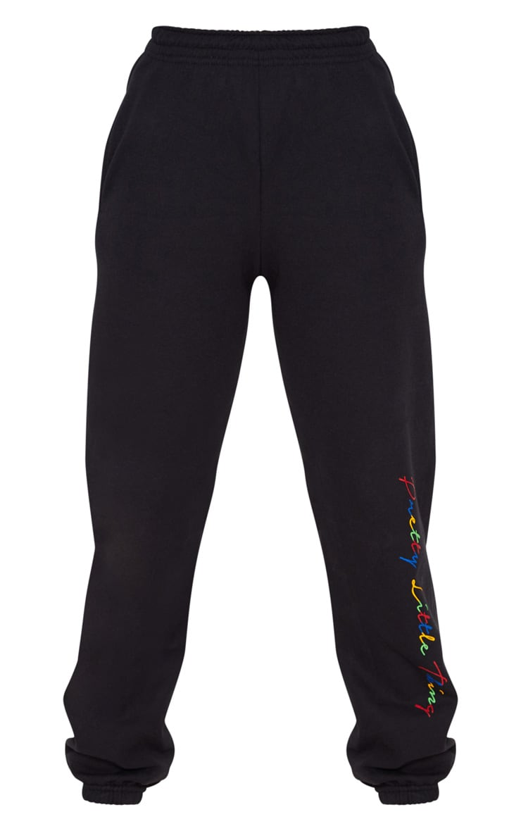 PRETTYLITTLETHING Black Multi Joggers 3