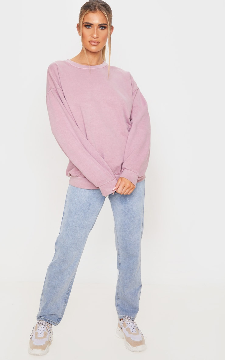 Rose Washed Oversized Sweater 4