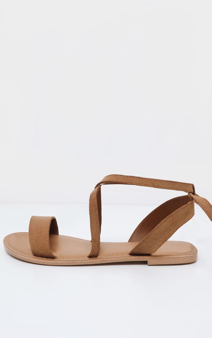 Tan Basic Leather Sandal 4