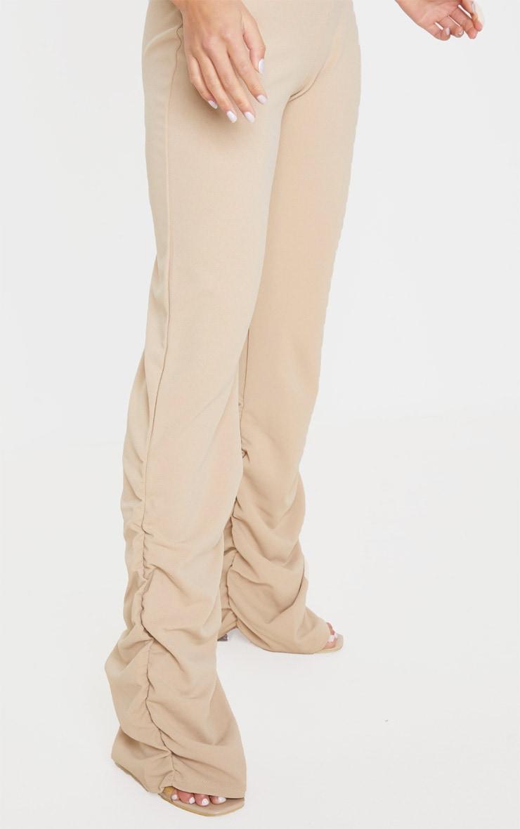Petite Camel Ruched Hem Crepe Pants 5