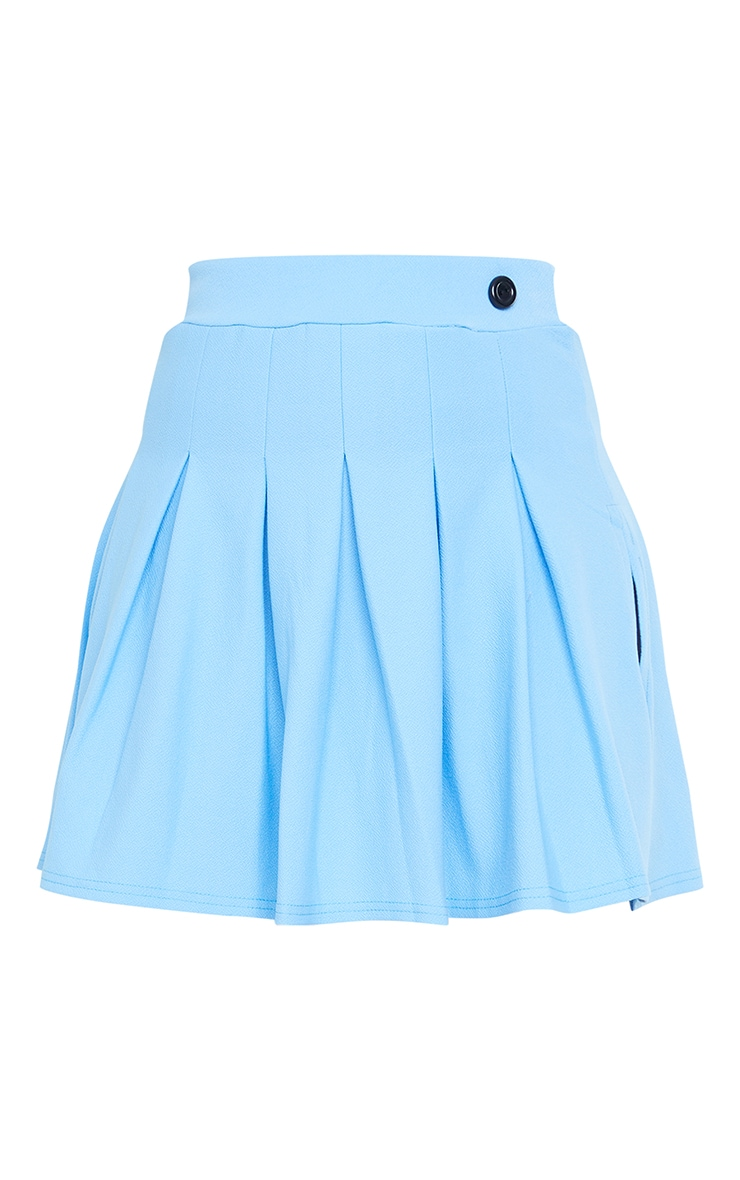 Baby Blue Pleated Side Split Tennis Skirt 6