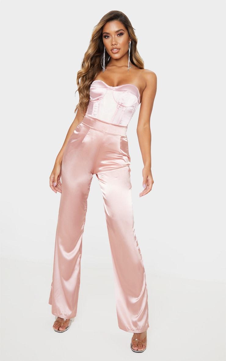 Pastel Pink Satin Corset 5