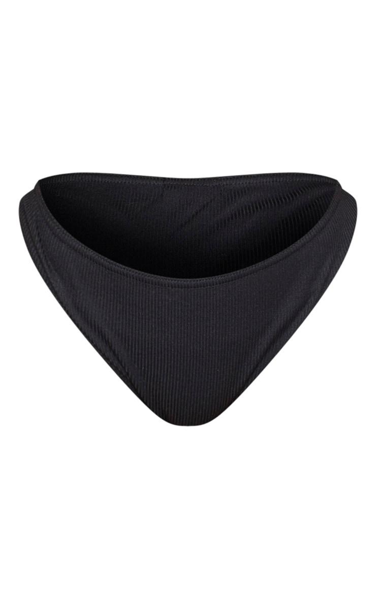 Shape Black Ribbed Knickers 6