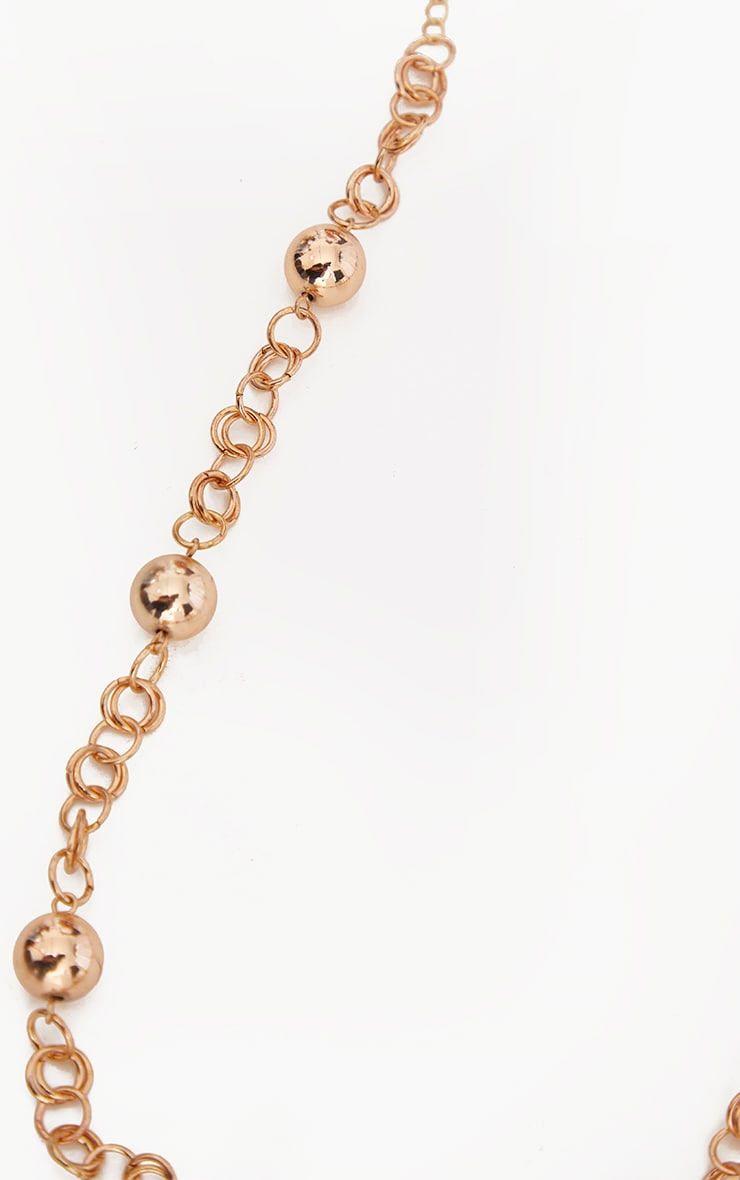 Gold Oversized Ball Chain Twist Necklace 3