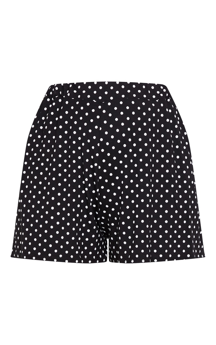 Black Jersey Floaty Polka Dot Short 3