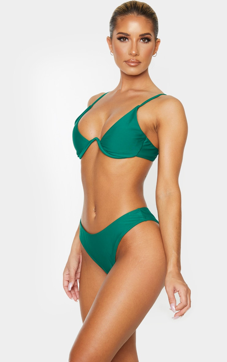 Emerald Green Mini Brazilian Bikini Bottoms 2
