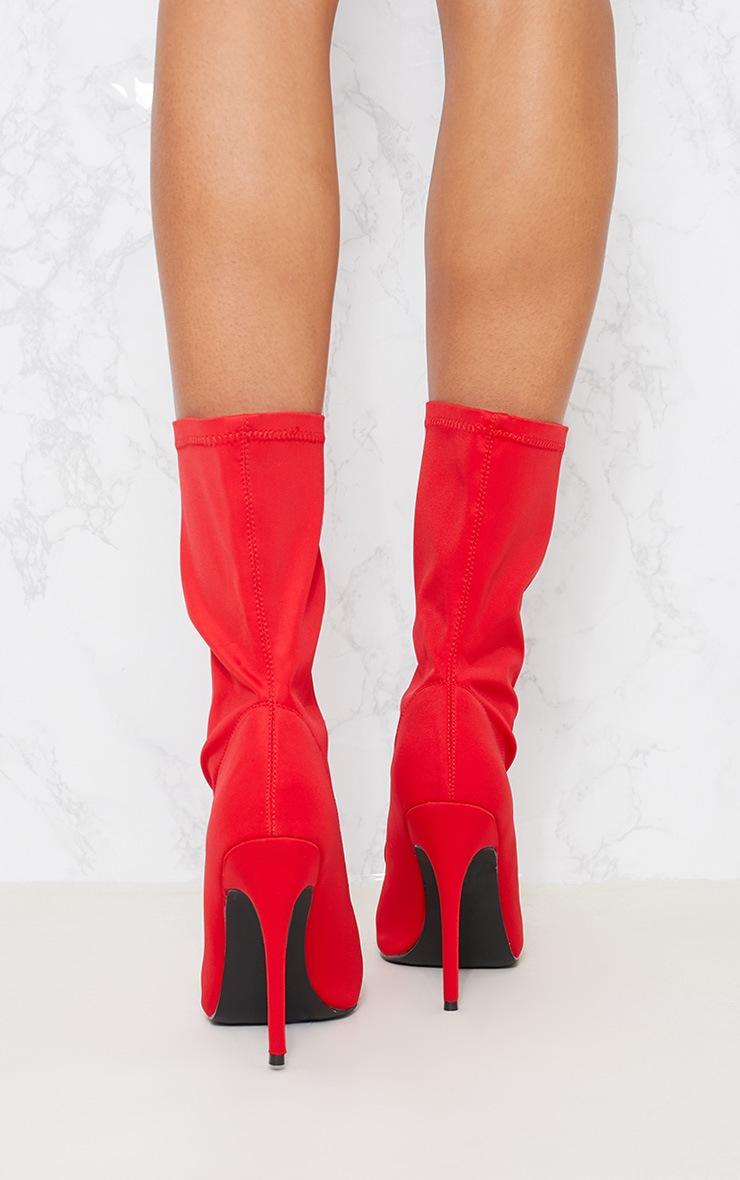 Red Lycra Sock Boot 4