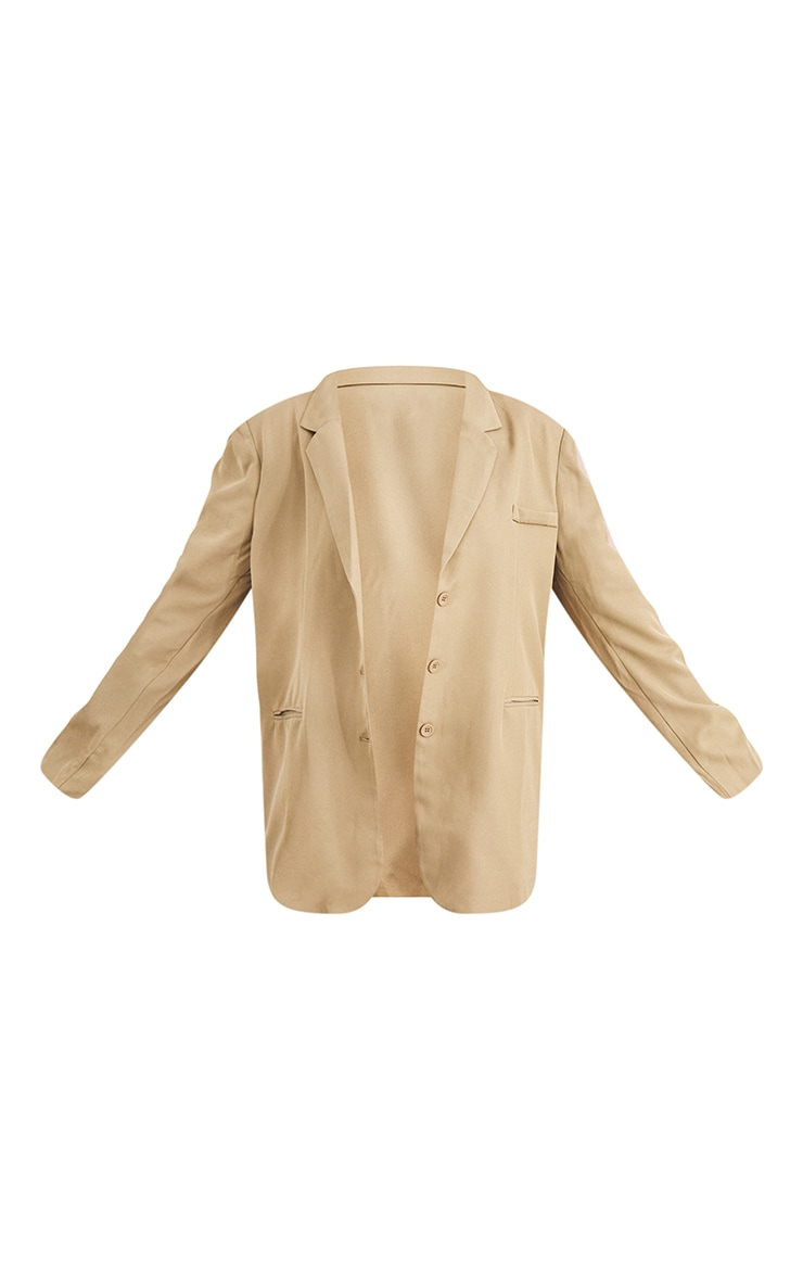 Plus Sage Green Woven Triple Button Shoulder Padded Oversized Blazer 5