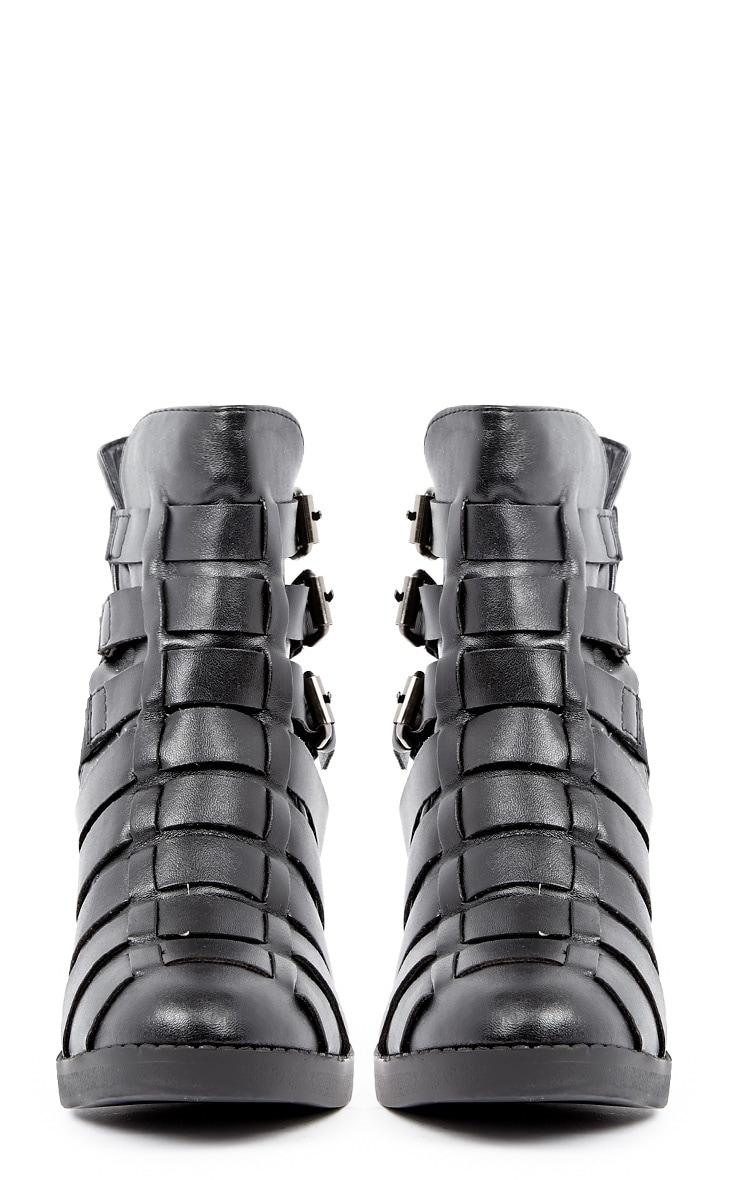 Margie Black Weave Boots 3