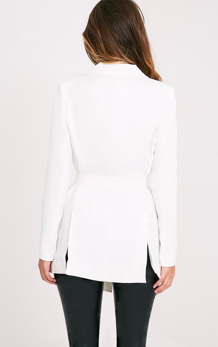 Rebecca Cream Belted Blazer 2