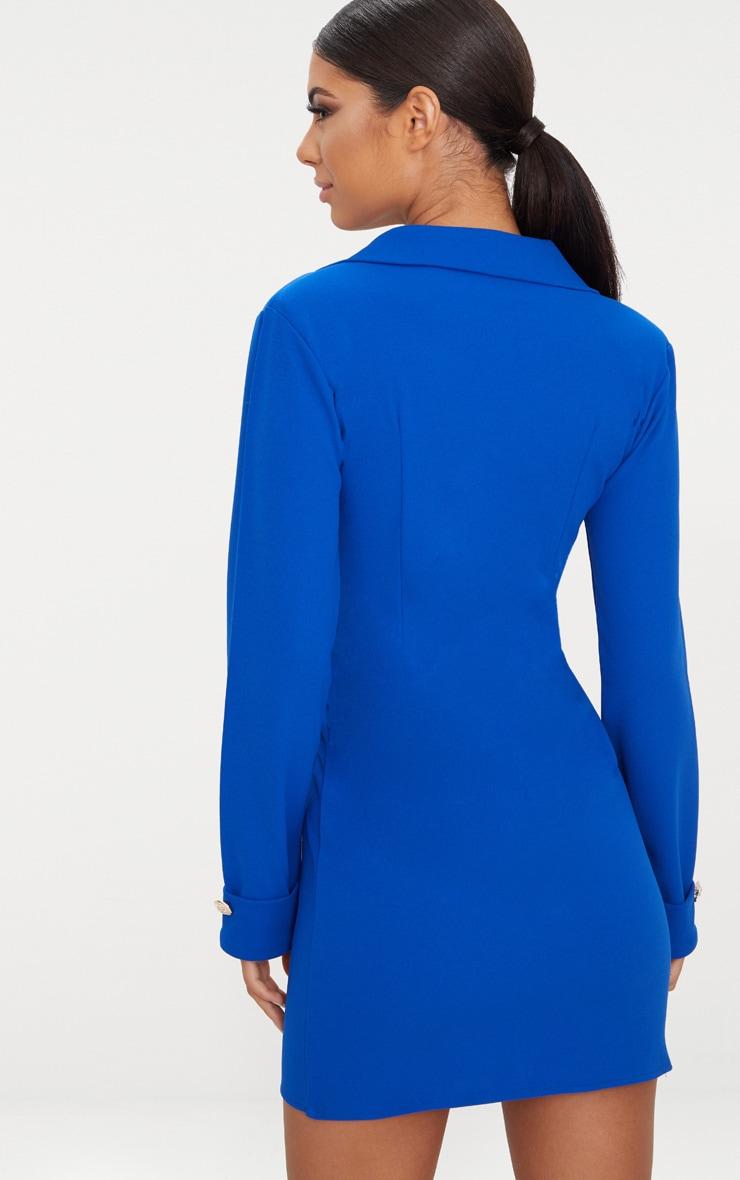 Cobalt Gold Button Detail Blazer Dress 2