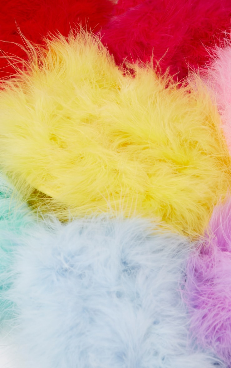 Candy Pink Marabou Feather Clutch Bag 6