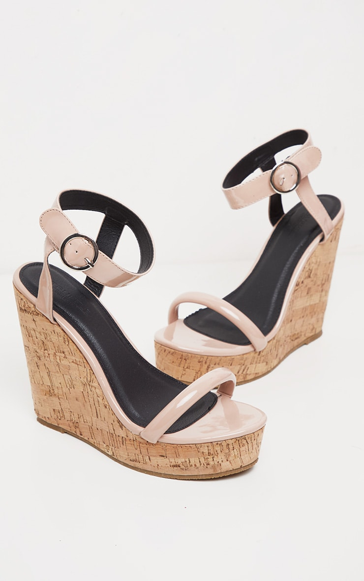 Nude Tube Strap Wedge  3