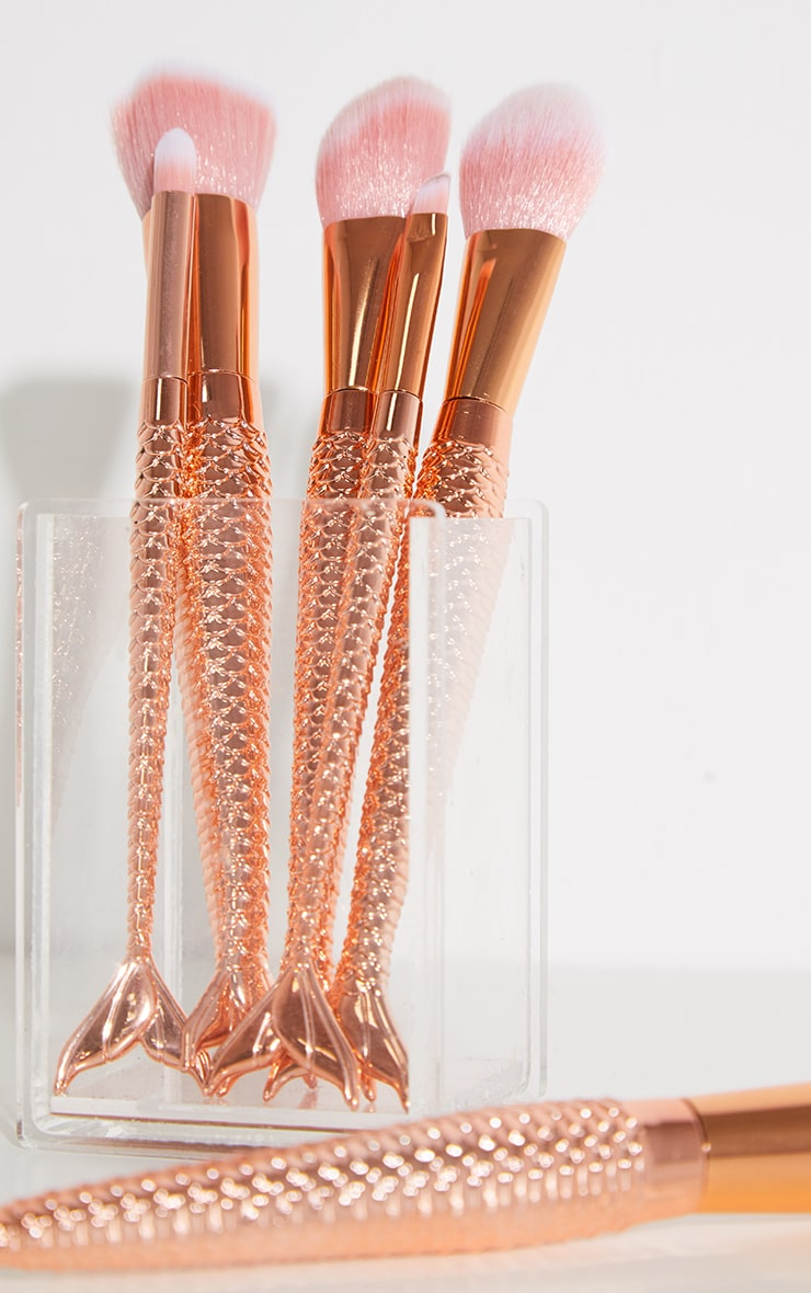 Rose Gold 6 Pack Make Up Brushes 2