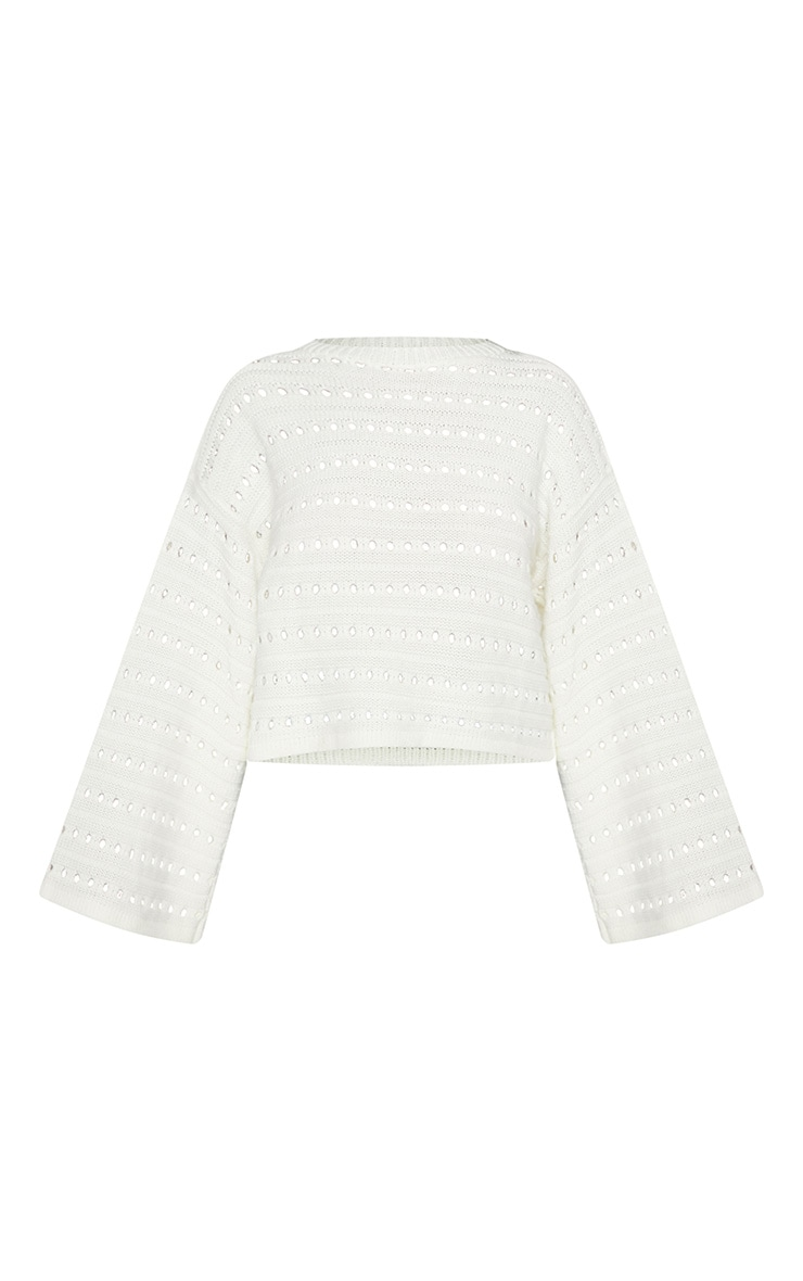 Petite Cream Flared Sleeve Jumper 3