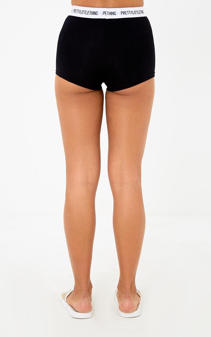 PRETTYLITTLETHING Black Shorts 4