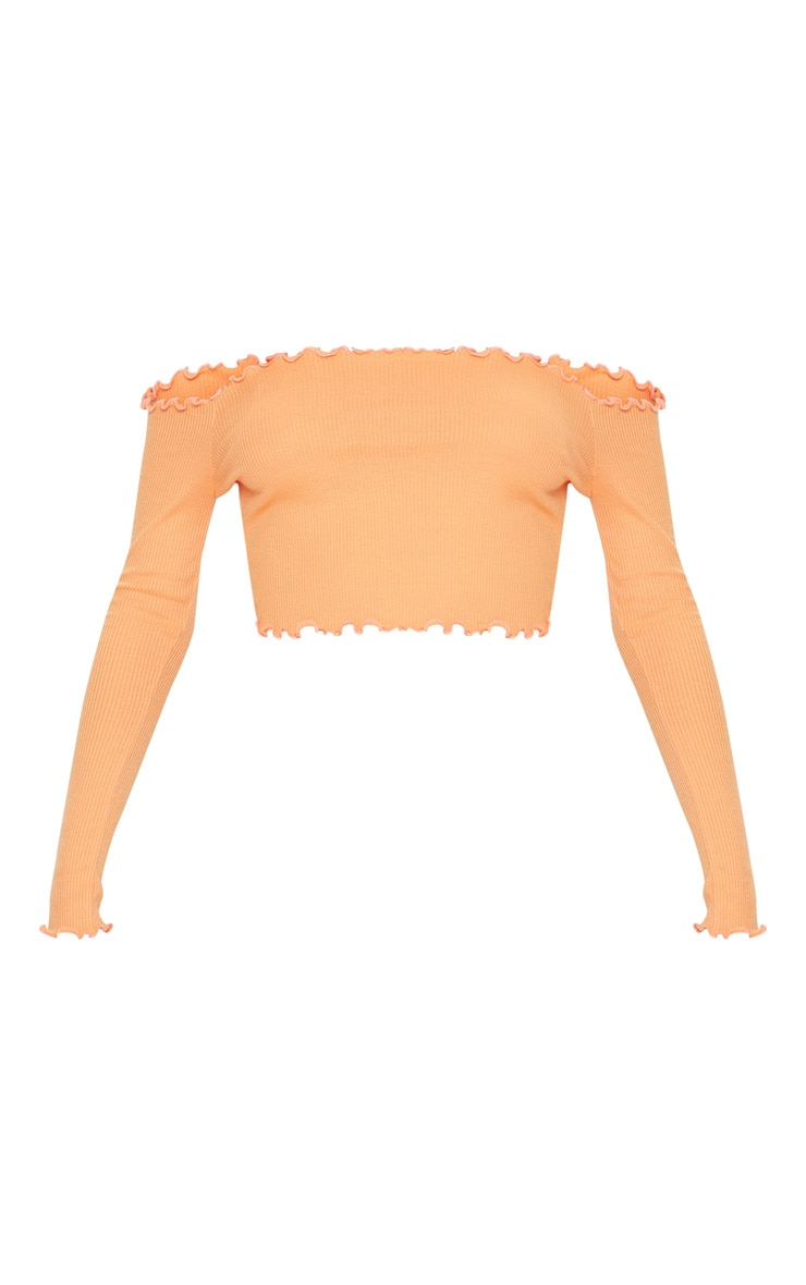 Tangerine Frill Edge Crop Top  3