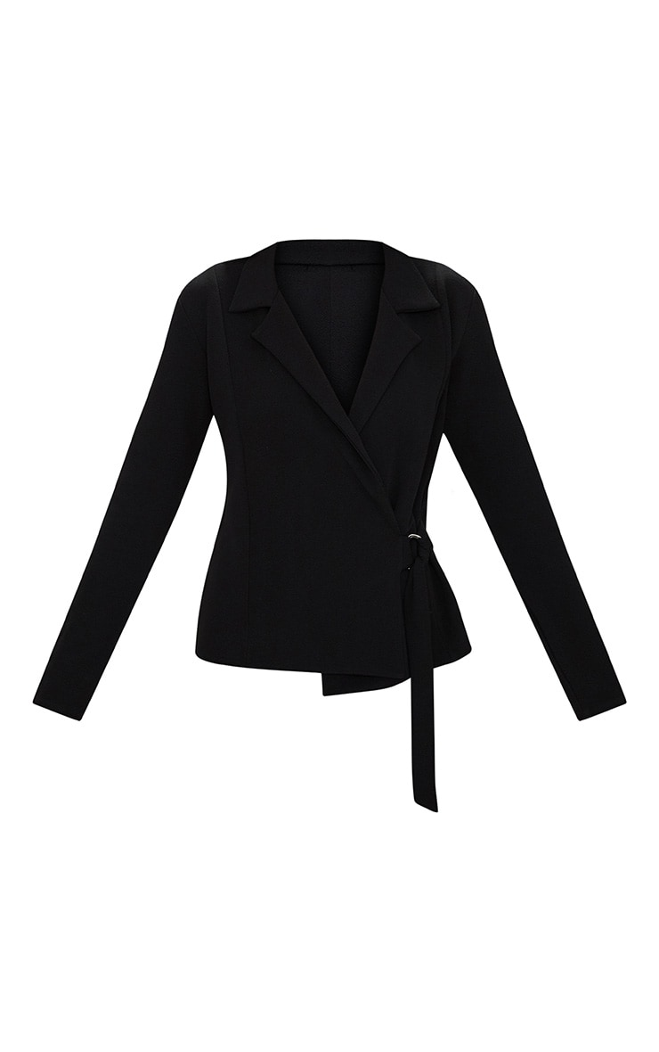 Black Wrap Side D-Ring Blazer 3